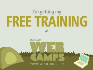 I'm getting my free training at Web Camp.